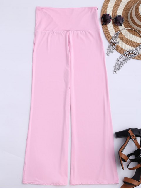 lady Soft High Waisted Palazzo Pants - PINK XL Mobile