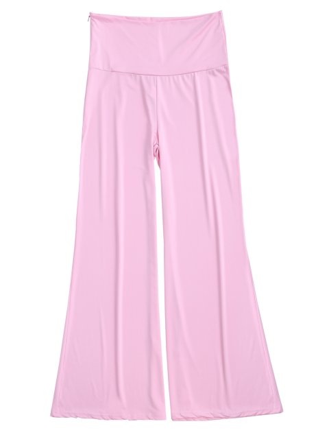 best Soft High Waisted Palazzo Pants - PINK 2XL Mobile
