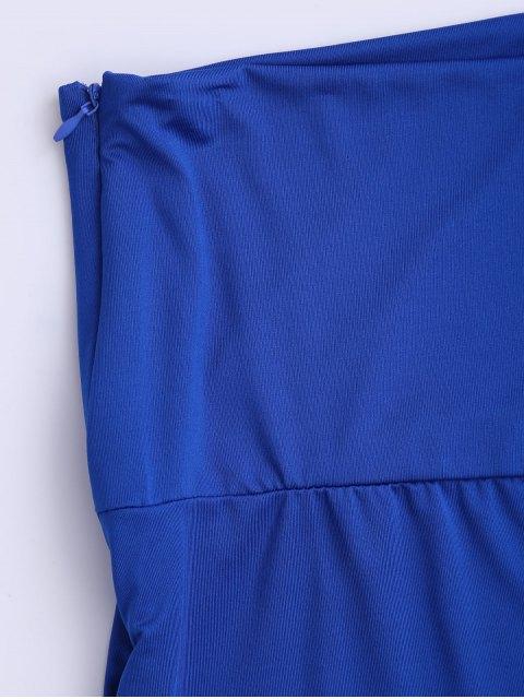 buy Soft High Waisted Palazzo Pants - ROYAL 2XL Mobile