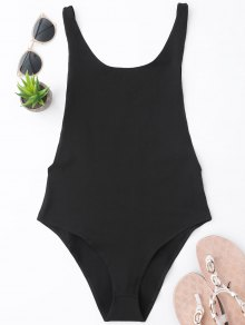Skinny Sleeveless Backless Bodysuit - Black S