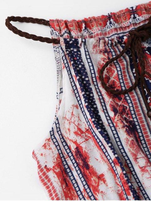 hot Beach Tribal Print Maxi Dress - COLORMIX M Mobile