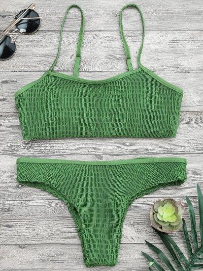 كامي سموكيد براليت بيكيني مجموعة - أخضر M