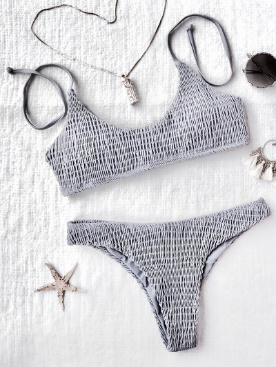 Ensemble De Bikini à Bralette Moulue Rembourré - Gris S