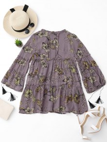 Ruffles Floral Tunic Dress