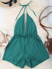 Plunge Open Back Romper