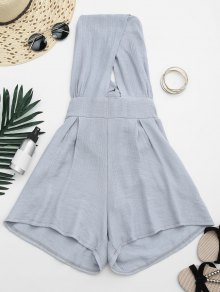 Cut Out Backless Romper