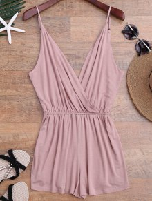 Cami Plunging Neck Surplice Cover Up Romper