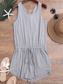 Twist Drawstring Cover Up Romper