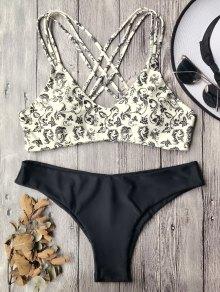 Padded Strappy Bralette Bikini Set
