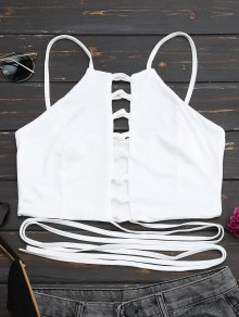 Criss Cross Lace Up Crop Top