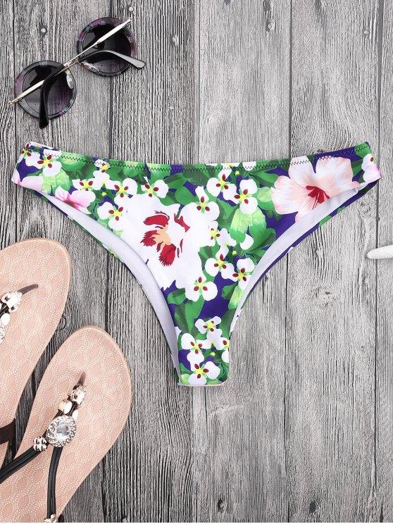 Faldas de tanga florales de corte alto - Floral M