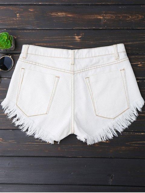 shops Cutoffs High Low Denim Shorts - WHITE S Mobile