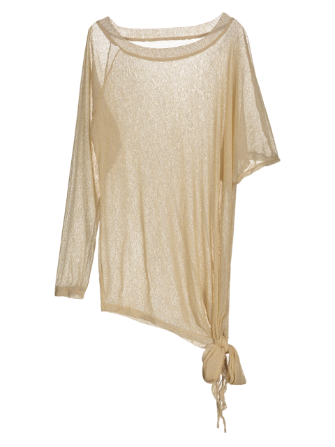 buy Asymmetric See-Through Cover Up - GOLDEN M Mobile