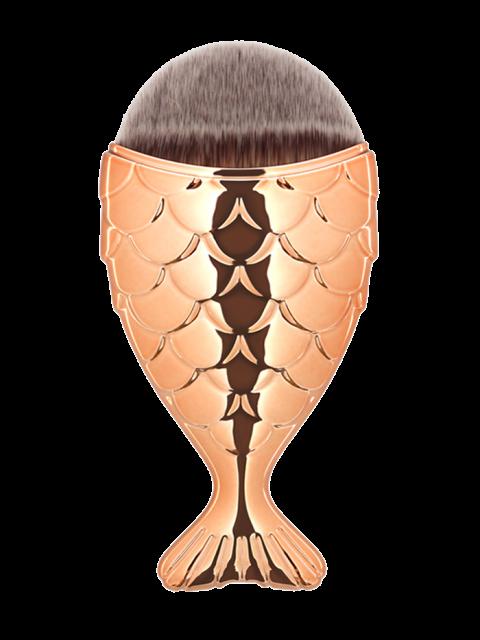 fancy Mermaid Design Portable Facial Makeup Brush - ROSE GOLD  Mobile