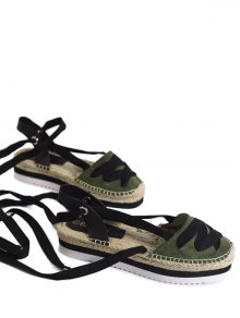 Tie Leg Closes Toe Espadrille Sandals