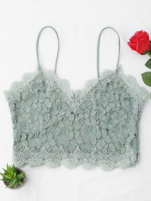 Cami Scalloped Lace Tank Top