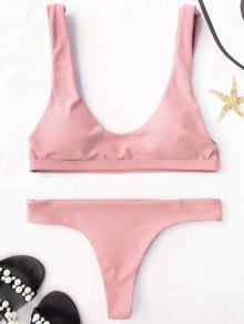Padded U Neck Bralette Thong Bikini