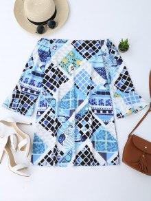 Off Shoulder Printed Tunic Dress