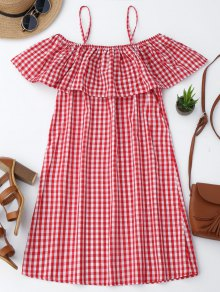 Cami Plaid Ruffle Dress