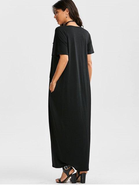 shops Oversized Letter Graphic Maxi Dress - BLACK M Mobile