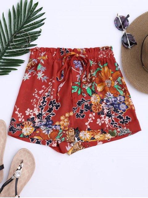Shorts  à cordes à motif floral bohémien - Tangerine S Mobile