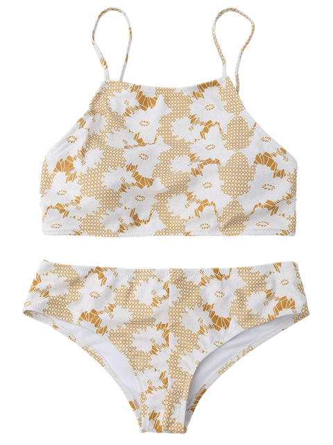 chic Crossover Printed Bikini Set - COLORMIX L Mobile