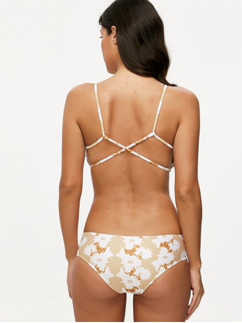 unique Crossover Printed Bikini Set - COLORMIX S Mobile