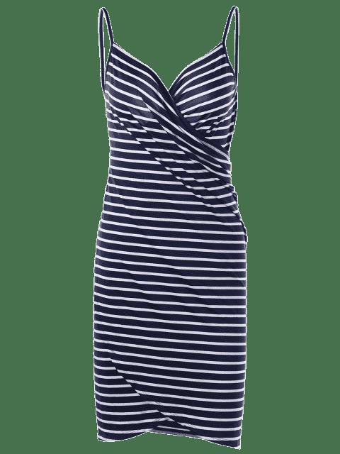 fancy Striped Open Back Cover-ups Dress - STRIPE 2XL Mobile