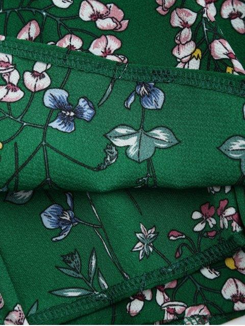 unique Floral Print Maxi Beach Slip Dress - GREEN M Mobile