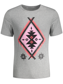 Short Sleeve Tribal Printed Tee
