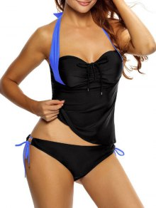 Tankini Top and Loop Tie Side Bottoms