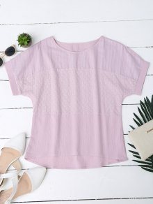 Floral Embroidered Linen Blend Top