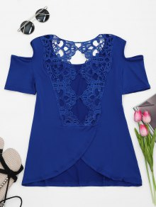 Lace Back Cold Shoulder T-shirt