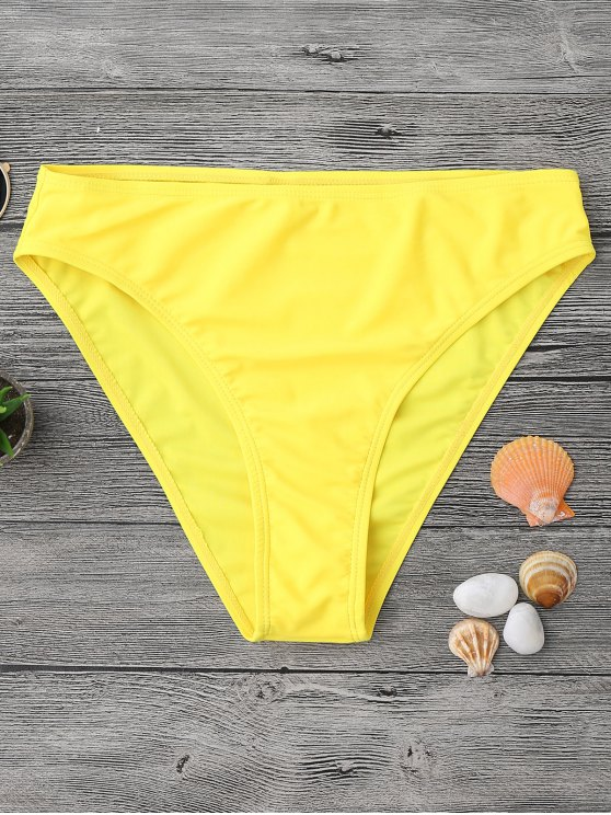 Mediados de Waisted High Cut Swim Bottoms - Amarillo M