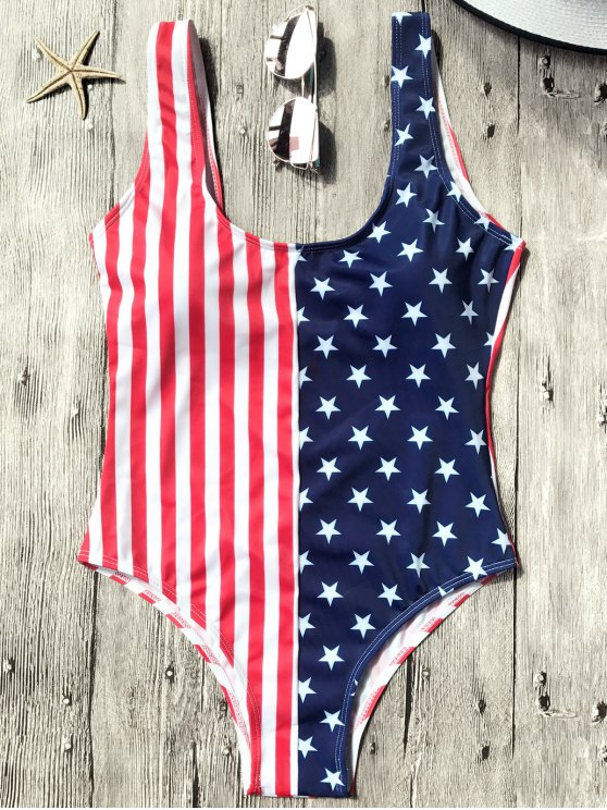 fashion Shaping USA Patriotic One Piece Swimsuit - US FLAG M