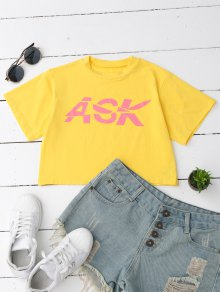 Loose Letter Cropped T-Shirt