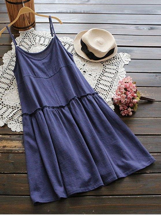 Vestido de camuflaje con volantes - Azul Única Talla