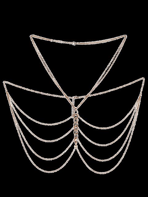 fancy Fringed Body Chain Jewelry - GOLDEN  Mobile