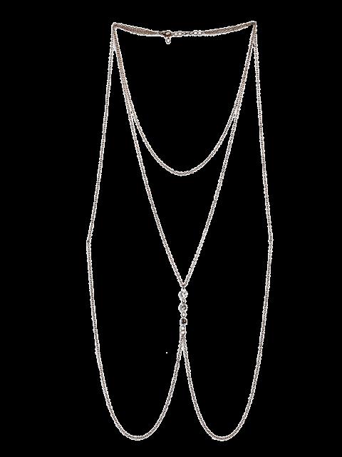 online Rhinestone Body Bra Chain Jewelry - GOLDEN  Mobile