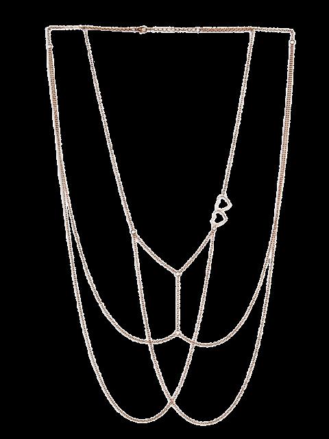 unique Heart Bra Body Chain Jewelry - GOLDEN  Mobile