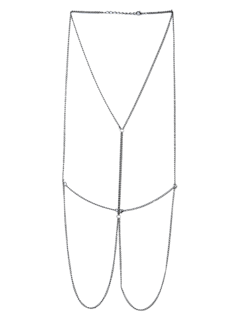 sale Embellished Bikini Body Chain - SILVER  Mobile