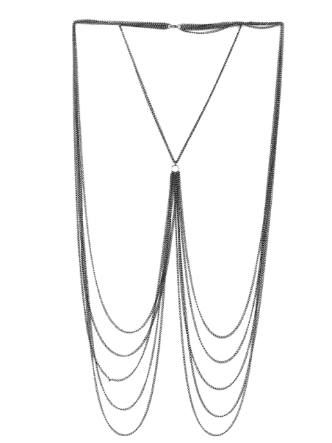 best Fringed Chain Body Jewelry - SILVER  Mobile