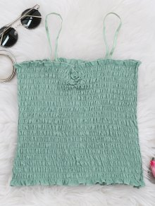 Cami Ruffled Smocked Tank Top