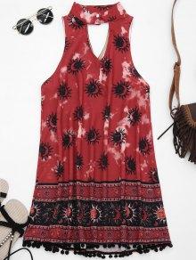 Choker Floral Turnic vestido con bolas difusas