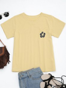 Cotton Floral Embroidered T-Shirt