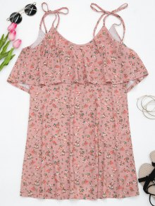 Flounces Tiny Floral Slip Mini Dress