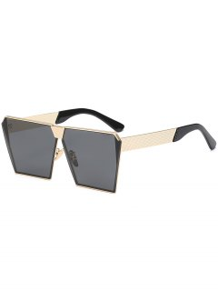 Vintage Square Frame Sunglasses - Black