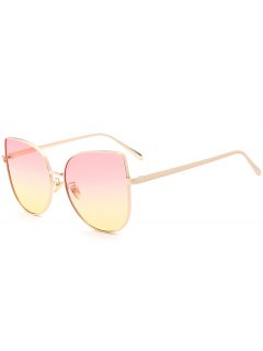 Gradient Color Cat Eye Sunglasses - Pink