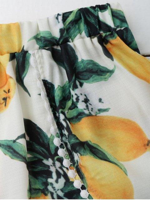 lady Lemon Halter Crop Top Shorts Set - WHITE M Mobile