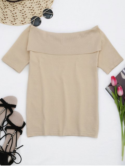 buy Flounces KnittingFloral Embroidered  Top - APRICOT ONE SIZE Mobile